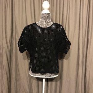 Zara woman's waffled shirt